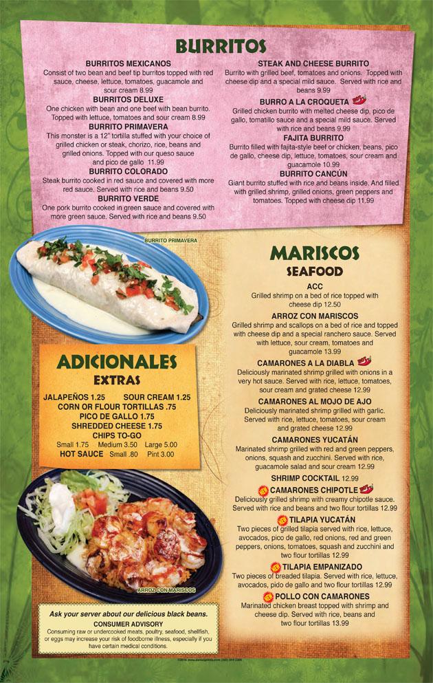 burritos seafood